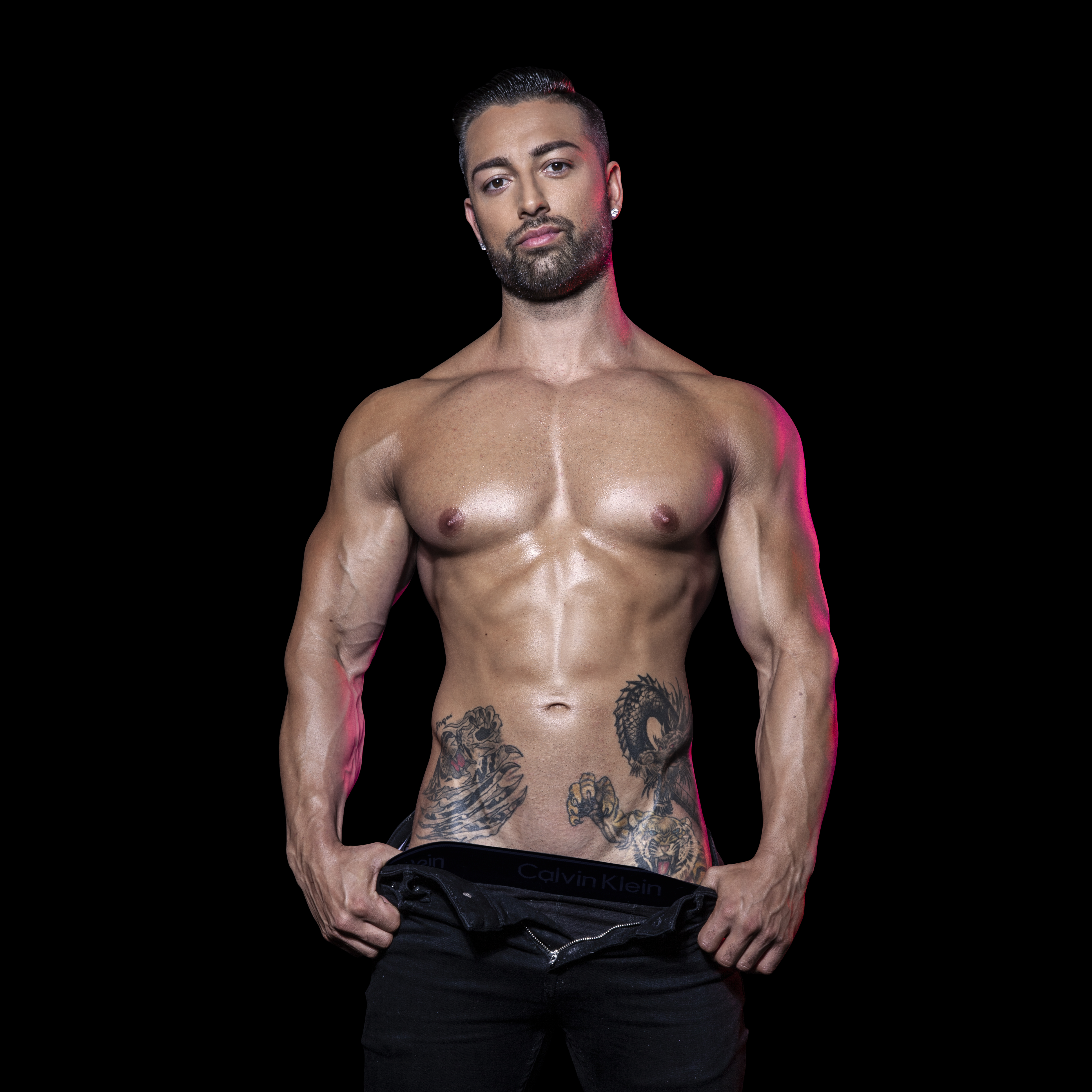 male strippers from the Dreamboys male strip club | Jason