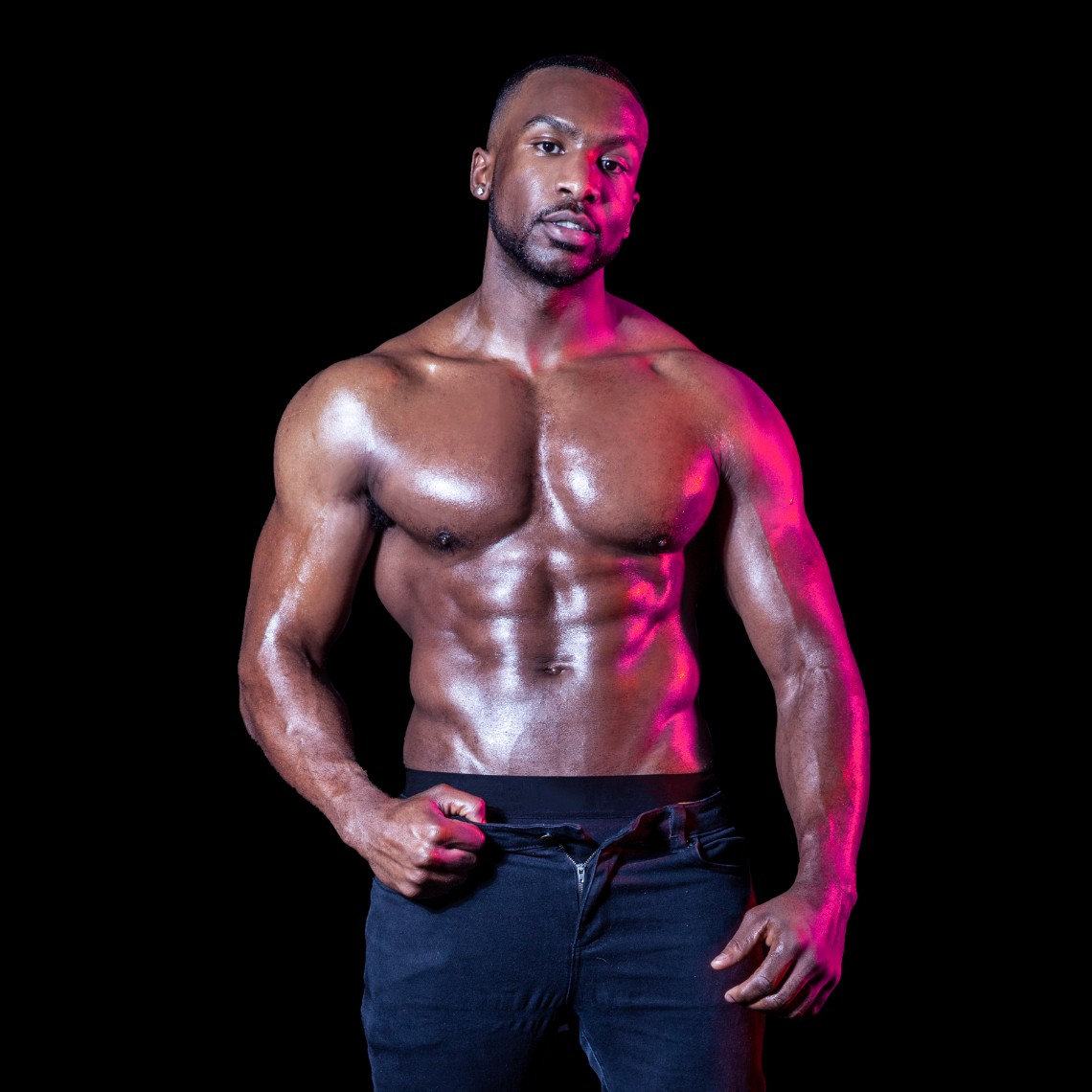 male strippers from the Dreamboys tour Pjay Finch